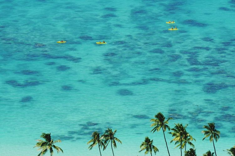 The warm blue waters of Lanakai Neature Taking Photos Seascape Seakayaking hawaii is always a stunning paradise to enjoy all sorts of Watersports