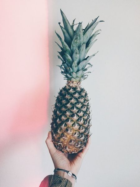 Pineapple Human Hand Fruit Healthy Eating Happy Fun Human Body Part VSCO Vscocam Good Day Tasty Vitamins Freshness