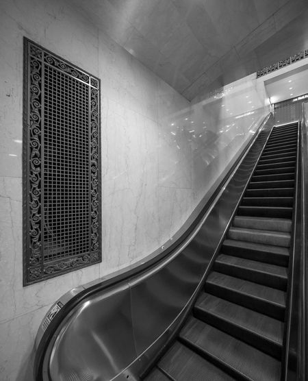 Architectural Design Architectural Feature Architecture B&w Photography B&w Street Photography Black And White Photography Black And White Street Photography Built Structure Escalator Getolympus Indoors  Joe Didario Joe DiDario Photography Joedidariophotography Joedidariophotographyllc Olympus OM-D EM-1 People Mover Stairs Stairway