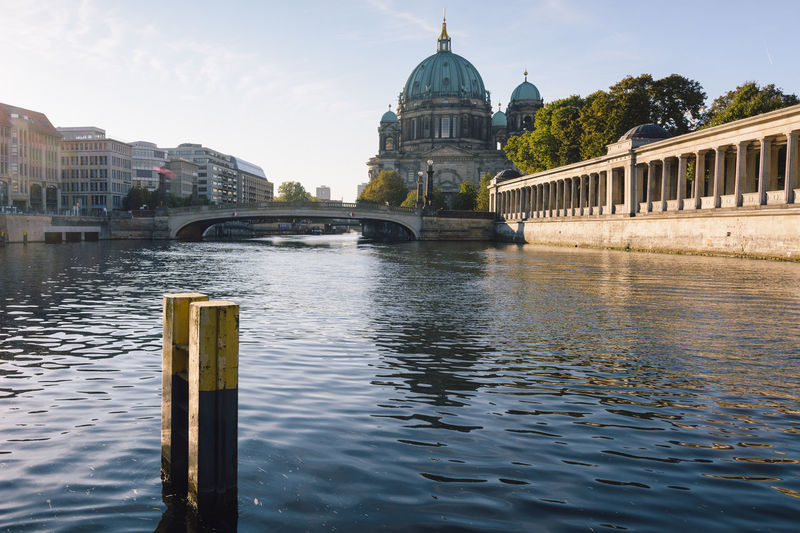 berlin cathedral at sunrise Architecture Architecture Berlin Berlin Cathedral Berliner Dom Bridge - Man Made Structure Building Exterior Built Structure City Cityscape Daytime Dome Germany Government History International Landmark New Day Outdoors Politics And Government Sightseeing Sky Spree River Berlin Sunrise Travel Destinations Water