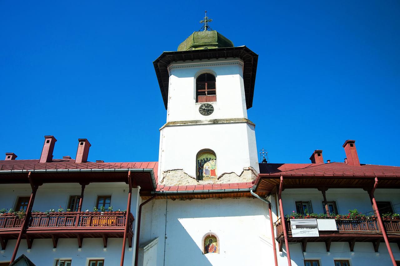Moldovita Monastery Against Blue Sky