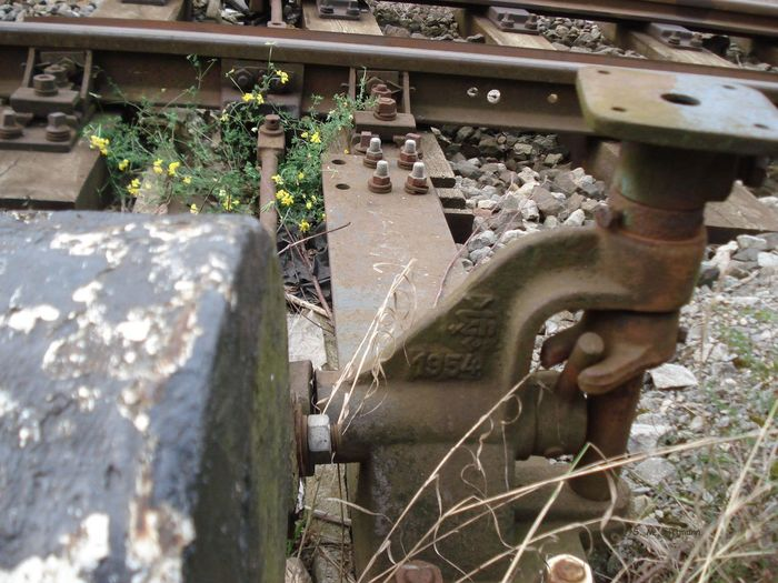 Gleise Schienen Weiche Iren Outdoors Railroad Tracks Disappearing In The Dis Rusty
