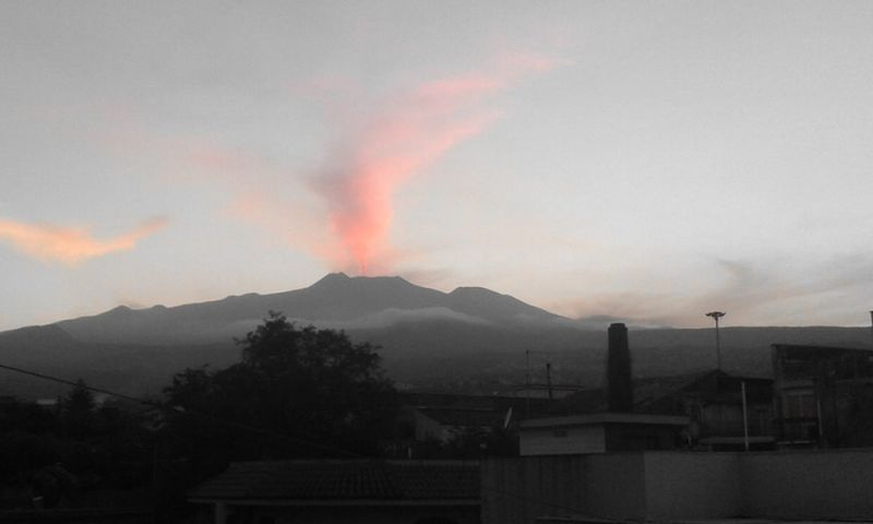 Pink Smoke Etna Sicily Summer2016 Italy Smoke - Physical Structure Danger Nature No People Science Outdoors Lava Forest Fire Erupting Natural Phenomenon Power In Nature Day