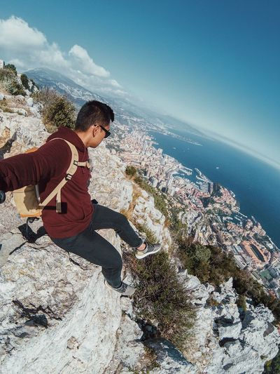 Breathtaking views City Selfie Portrait Gopro France Monaco EyeEm Best Shots Sea Water Land Beach One Person Real People Leisure Activity Nature Lifestyles Day Outdoors Beauty In Nature Sunlight