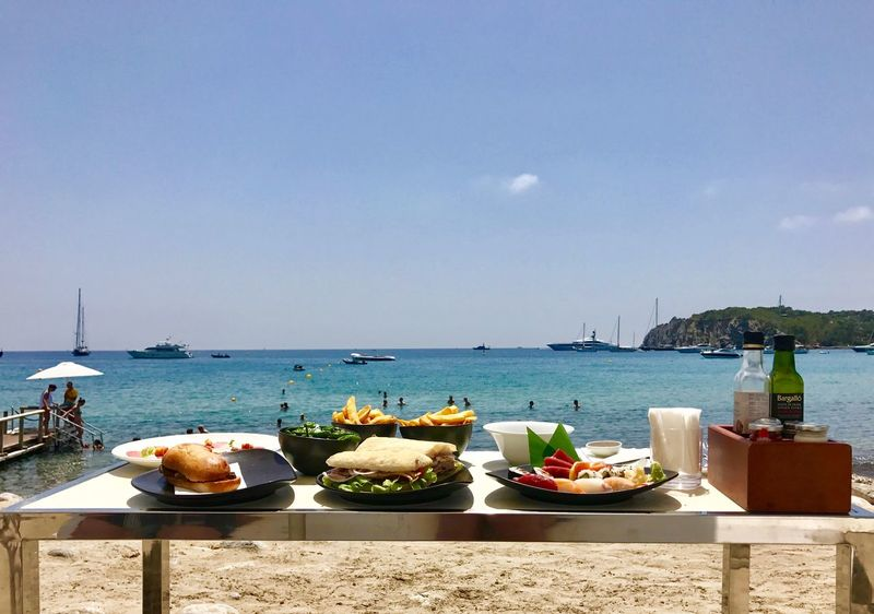 Ibiza Beauty In Nature Blue Marlin Day Food Food And Drink Freshness Healthy Eating Horizon Over Water Ibiza Beach Ibiza Beach Club Lifestyles Luxury Nature Nautical Vessel No People Outdoors Ready-to-eat Scenics Sea Sky Sunlight Water