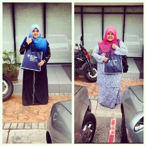 Alhamdulillah tercapai jugak hasrat kami :) we offically student at oum :)