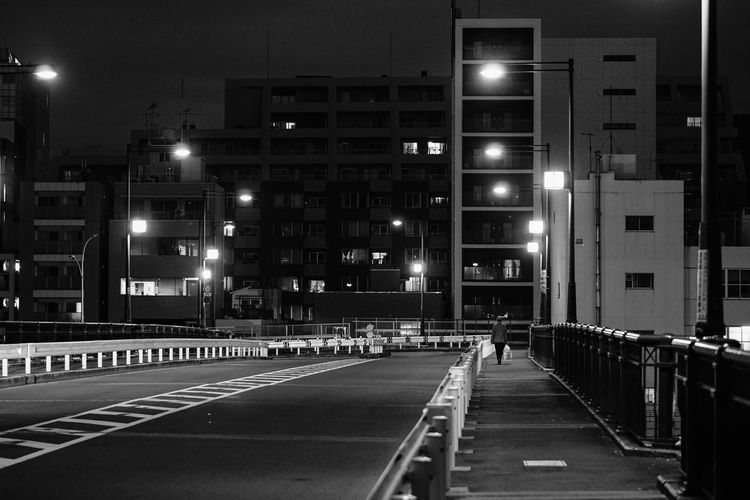 Architecture Building Exterior Built Structure City Direction Illuminated Land Vehicle Light Lighting Equipment Long Marking Mode Of Transportation Night No People Road Road Marking Sign Street Street Light Symbol The Way Forward Transportation HUAWEI Photo Award: After Dark EyeEmNewHere