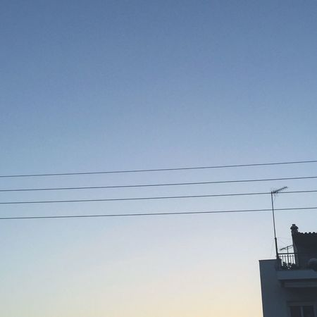 Check This Out Taking Photos Eyeemphotography Tranquility Tranquil Scene Peace Of Mind Peace And Quiet Peace In Greece Power Line  Power Cable Power Supply Cable Blue Minimalism Minimalobsession Minimal Minimalmood Low Angle View Skylovers City City Life Cityscapes Urban