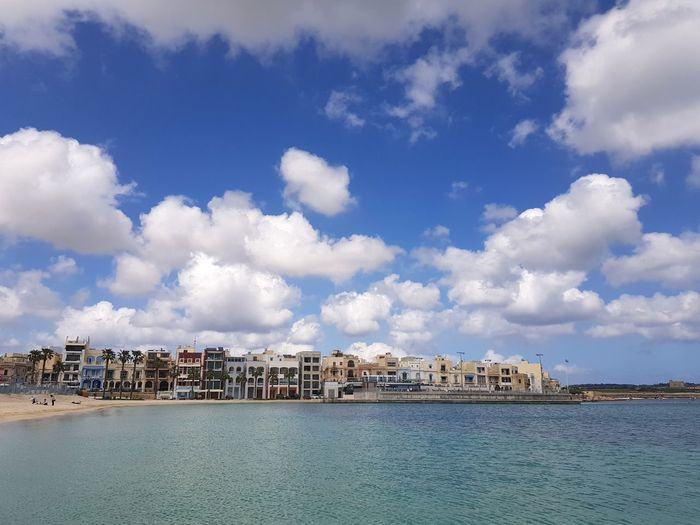 holiday in Malta Malta Mediterranean  Holiday City Cityscape Water Sea Beach Blue Sky Architecture Building Exterior Cloud - Sky Coastline View Into Land Sandy Beach Coastal Feature Coast Seascape