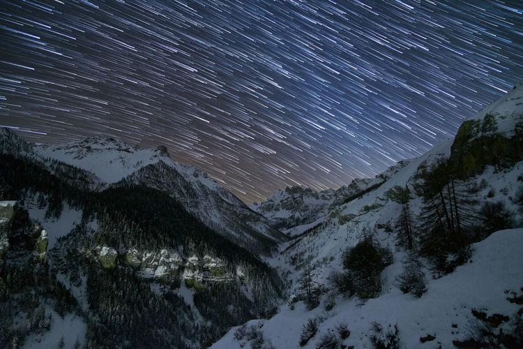 A star trail on