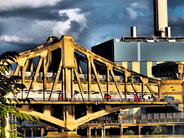 Bridge over Seine Architecture Bridge Built Structure Cloud - Sky Cloudy Day No People Outdoors Post-processing Sky