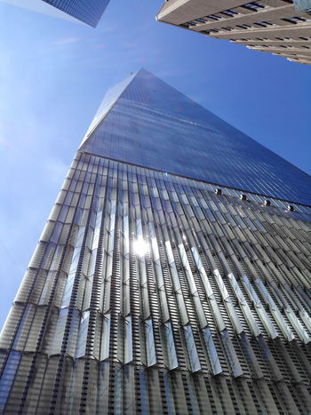 Architecture Built Structure Business Finance And Industry Skyscraper Low Angle View Urban Skyline One World Trade Center Freedomtower