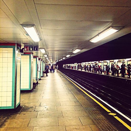 Waiting for train Train Station London Tube Travel Vanishing Point