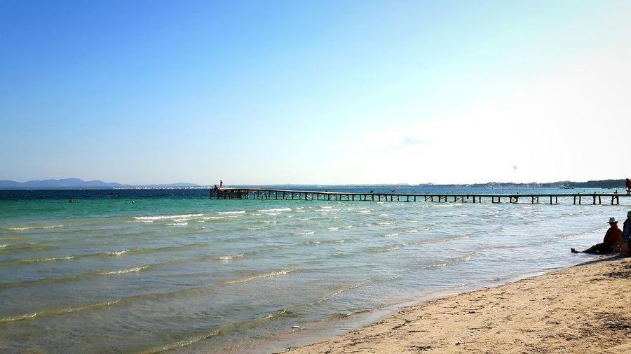 Die Schönheit des Meeres/the beauty of the sea/la belleza del mar/大海的美麗/جمال البحر horizon over water Sky Nature Outdoors Beauty In Nature Tranquil Scene Sand Adult Puertodealcudia AlcudiaBeach Mar Alcudia Playa