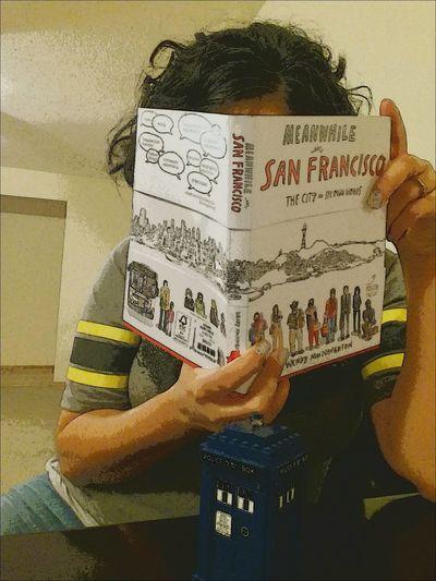 January 17-Faceless Fmsphotoaday Book That's Me LEGO Tardis Meanwhileinsanfrancisco