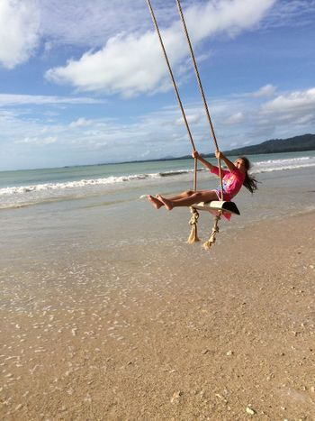 Coconut Beach Khao Lak Thailand Enjoying Life Khaolak Swing Chanelle