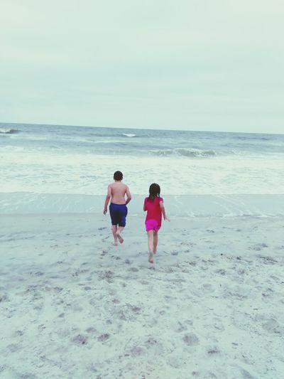 The Beach Life My Kids Chasingwaves Siblings ♡ Ohana MyLoves Carolinabeach