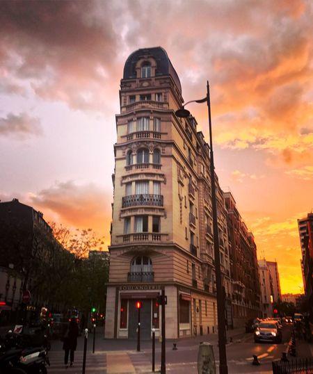 Paris Architecture Sunset Sky Built Structure Paris France