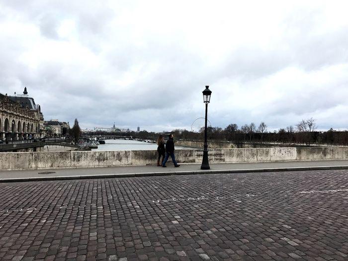Sky Cloud - Sky Built Structure Architecture Outdoors Day Real People Building Exterior City Paris, France  Paris Je T Aime Paris ❤