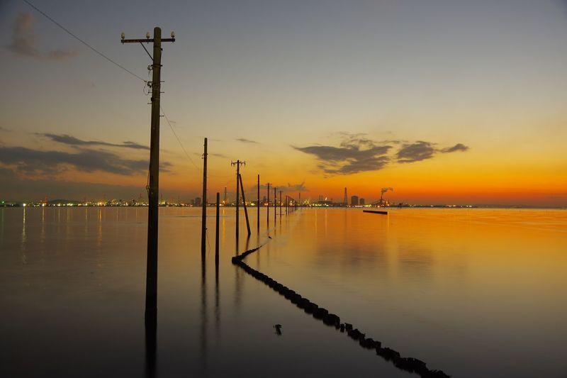 木更津 江川海岸 Pentax K-3 Sky Water Sunset Reflection