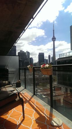 Balcony Living Relaxing Enjoying Life Hanging Out Toronto