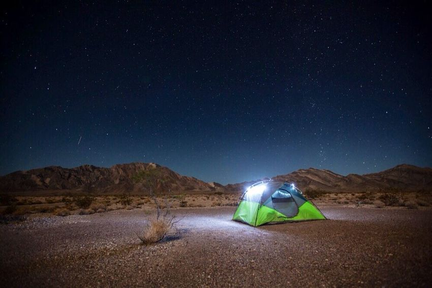 Camping under the stars in Death Valley