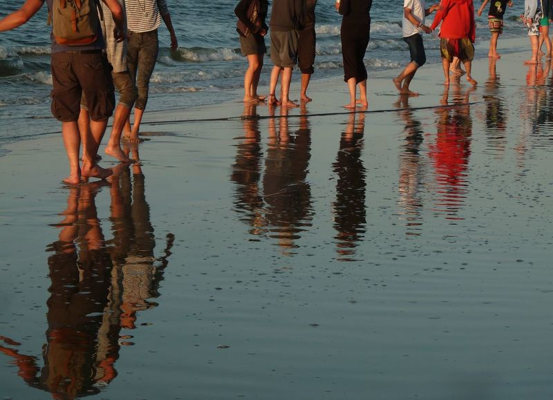 Day Leisure Activity Lifestyles Medium Group Of People Nature Outdoors Reflection Rippled Unrecognizable Person Water