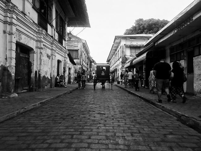 Calle Crisologo in Vigan Architecture City People Outdoors Nature Photography EyeEm Best Shots Eyeem Philippines Arts Culture And Entertainment Xperia Z3