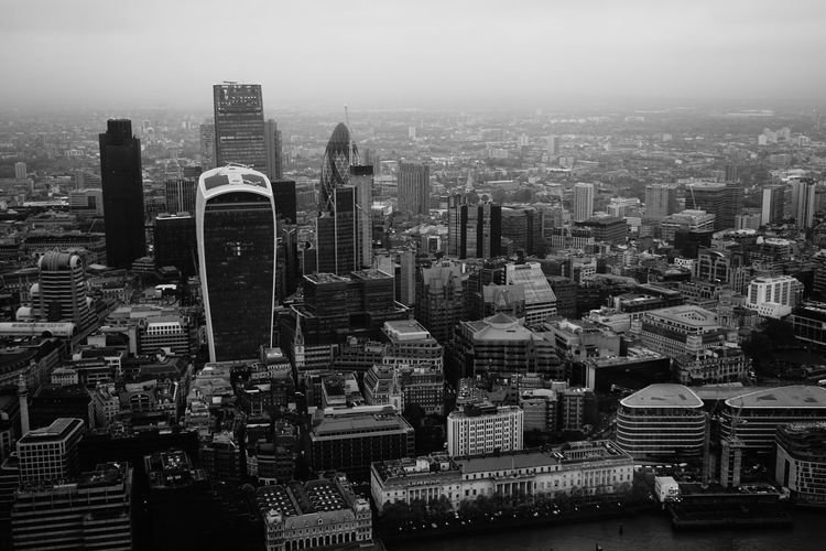 Architecture Black And White Blackandwhite Building Exterior City City Life Cityscape Day Gherkin Modern No People Outdoors Sky Skyscraper Sony SONY A7ii Tower Travel Destinations Urban Skyline