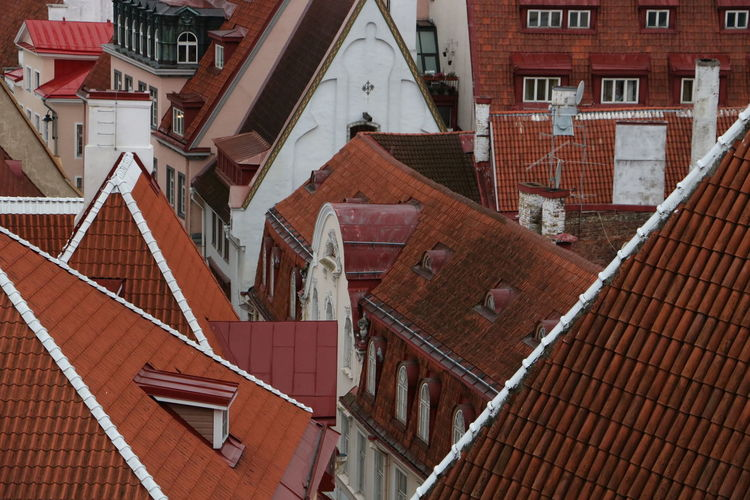 Architecture Building Exterior Built Structure Estonia High High Angle View House Narrow Street No People Old Town Outdoors Red Red Roofs Roof Small Town Tallinn Tallinn Old Town Tiled Roof  Travel Destinations Travel Photography The Architect - 2017 EyeEm Awards