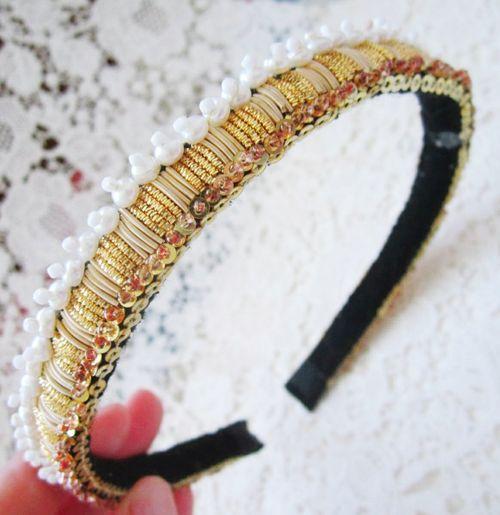 Close-up of headband