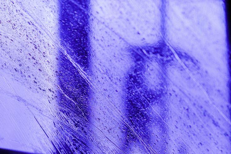 Full frame shot of blue water on wood