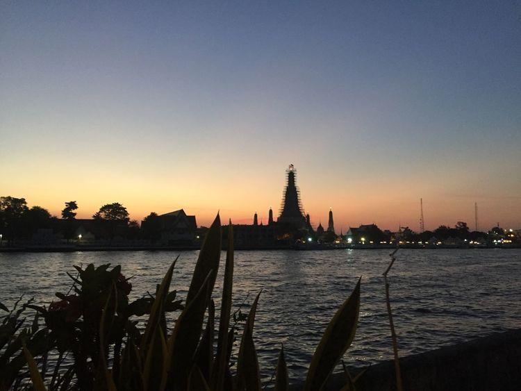 ☁️ Riverview Tinyskycapture Sunset Skylight Sky Chaoprayariver Bangkok Thailand Nofilter