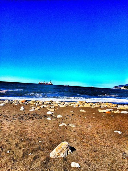 Zonguldak Green Sea Sea And Sky Space Blue Beach Rock - Object Boubles