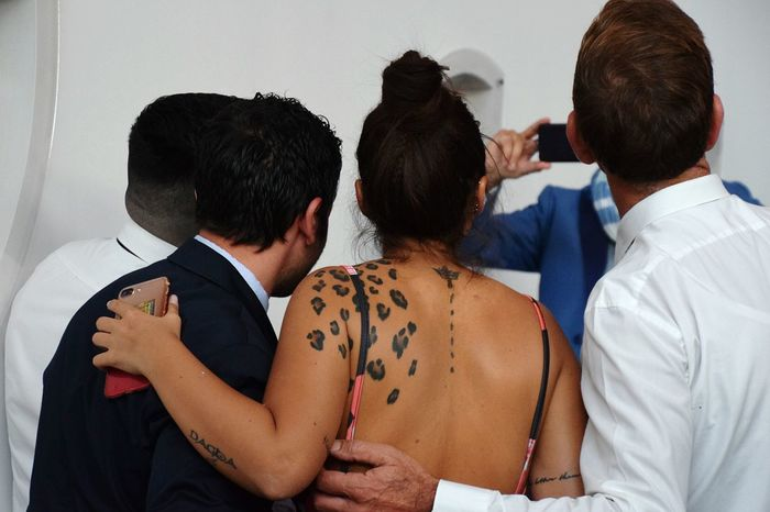 Tatoo Mens Friendship Togetherness Women Rear View This Is My Skin