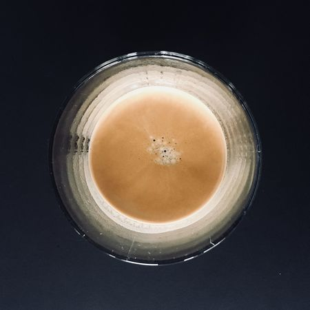 Drink Refreshment Food And Drink Drinking Glass Frothy Drink Directly Above No People Freshness Close-up Coffee - Drink Indoors  Table Healthy Eating Alcohol Latte Black Background Froth Art Day