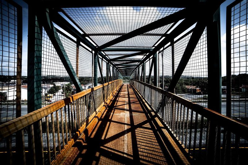 Bridge Built Structure Connection Architecture Bridge - Man Made Structure The Way Forward Diminishing Perspective Engineering Sky Elevated Walkway Sun Sunset Sunset_collection Sunshine Shadow Shadows & Lights Shadows Geometry