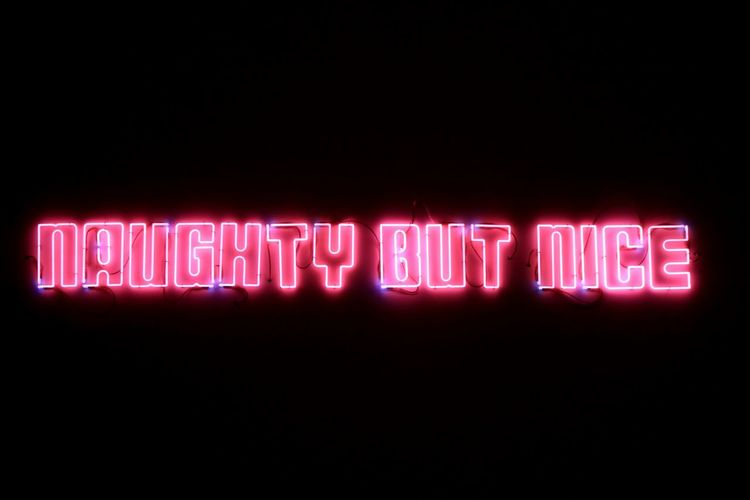 Close-up of illuminated text