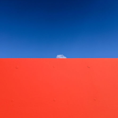Cloudminimal Minimalism Minimalobsession Minimalist Photography  Ralfpollack_fotografie Cloud Sky Blue Copy Space No People Outdoors Day Environment Scenics - Nature Clear Sky Tranquil Scene Tranquility Red Climate
