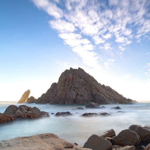 Sugarloaf 's such a majestic place Beachphotography Longexposure Landscape Sky Water Sea Rock Rock - Object Scenics - Nature Beauty In Nature Cloud - Sky Rock Formation Beach Idyllic Mountain Stack Rock Nature Tranquility