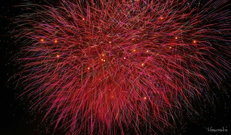 Exploding Firework Display Celebration Firework - Man Made Object Night Arts Culture And Entertainment Red Low Angle View No People Event Long Exposure Full Frame Multi Colored Illuminated Sky Outdoors Galaxy