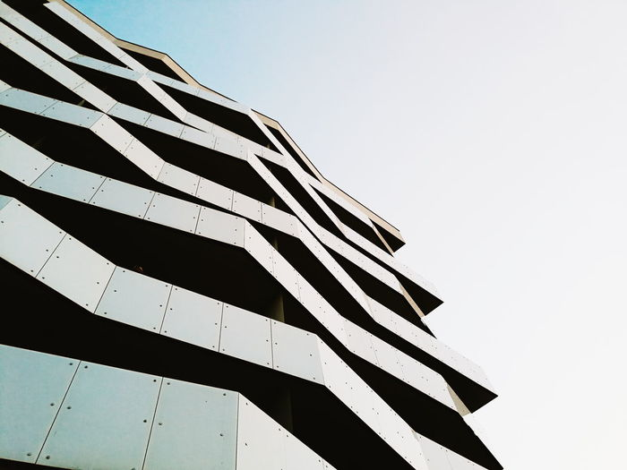 City Modern Clear Sky Striped Sky Close-up Building Residential Structure Façade