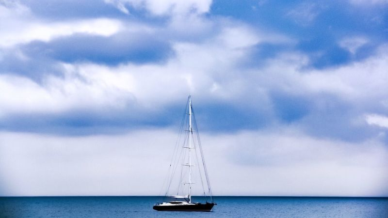 Simply relax and make your horizon. EyeEm Best Shots EyeEm Nature Lover Water Sky Nautical Vessel Sea Cloud - Sky Transportation Mode Of Transportation Sailboat Beauty In Nature Nature Sailing No People Scenics - Nature Day Waterfront Horizon Horizon Over Water Travel Outdoors Yacht