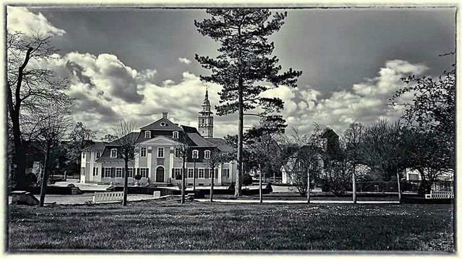 Friederikenschlösschen in Bad Langensalza Historical Building architecture Outdoors Photography Black And White Photography Monochrome City Park Traveling