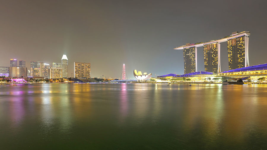 MARINA BAY SAND, SINGAPORE Exterior Financial District  Marina Bay Sands Night Lights Night Photography Singapore Architecture Building Built Structure Hotel Mbs Singapore No People Singapore City