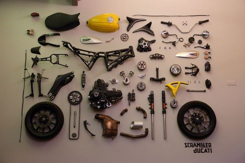 Motorcycle Camouflage Murales Expression Artistic Expression Ideas Inspirational Design Interior Design Canon5Dmk3 Motorcycle Ducati Large Group Of Objects Choice Indoors  Variation No People Arrangement Art And Craft Creativity Equipment Close-up Collection Representation Humanity Meets Technology