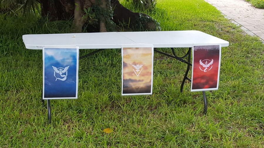 Pokémon sign up table Pokemon Go TEAMS Sign Up Table Red Yellow Blue Robinson Preserve Bradenton FL Florida Life Having Fun Family Time