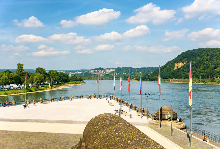 Koblenz, deutsches eck - where the mosel river joins the rhine