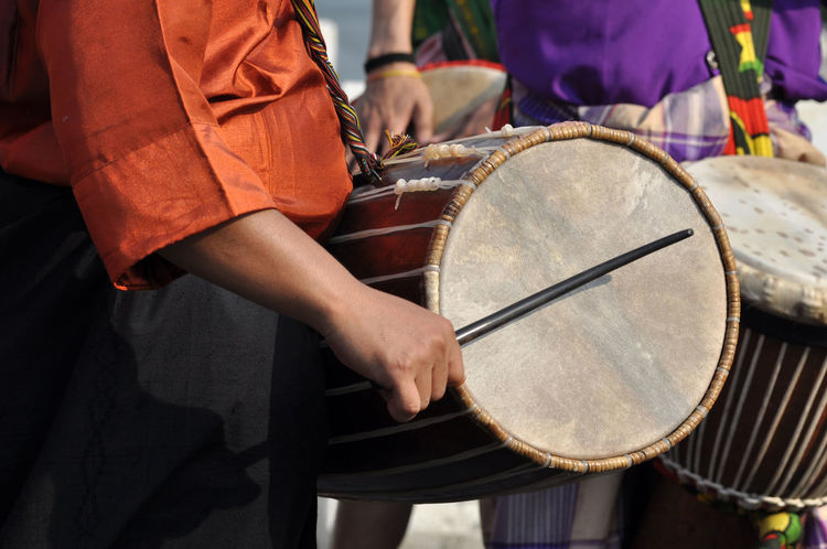 INDONESIA Artist Arts Culture And Entertainment Culture Drum - Percussion Instrument Drummer Festival Focus On Foreground Holding Midsection Music Musical Equipment Musical Instrument Musician One Person Percussion Instrument Performance Playing Real People Street Toraja Tredition