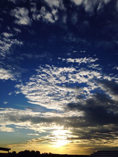 Idyllic Sunrise Morning Sky Beautiful Clouds And Sky Beauty In Nature Sun Happy Day Blue